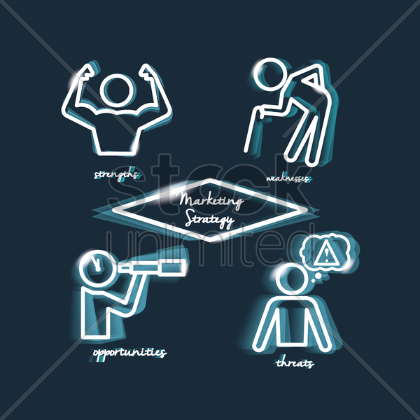 Free marketing strategy concept vector graphic