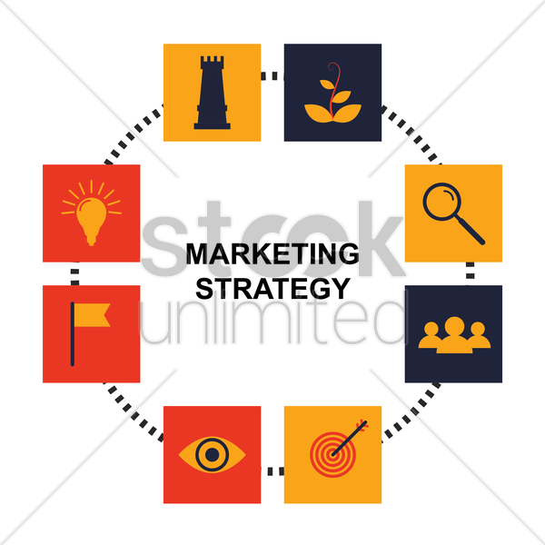 marketing strategy vector graphic