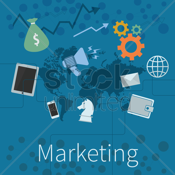 marketing vector graphic