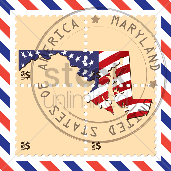 maryland stamp vector graphic