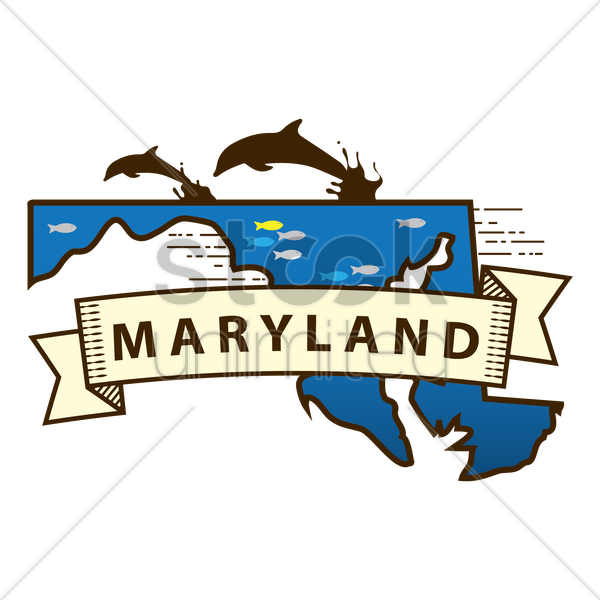 maryland state map vector graphic