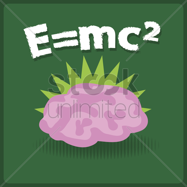 mathematics equation and brain vector graphic