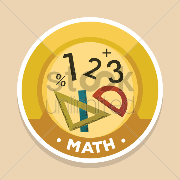 maths label vector graphic
