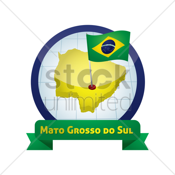 mato grosso do sul map vector graphic