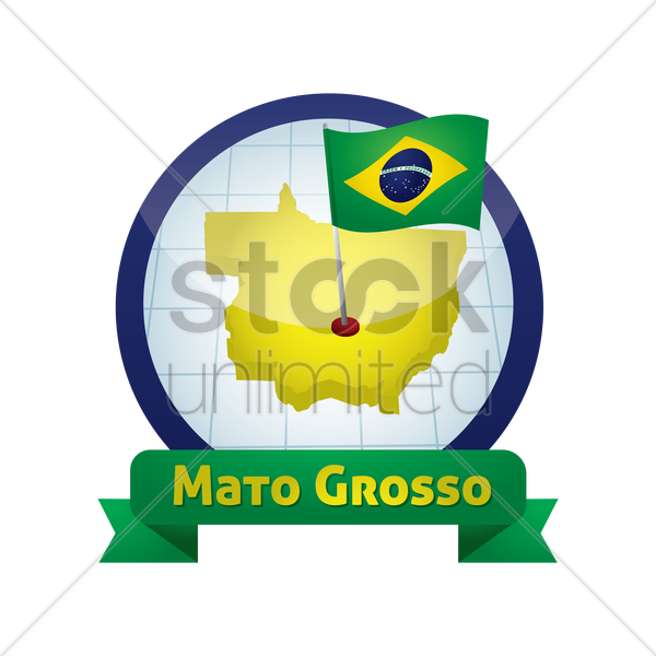 mato grosso map vector graphic