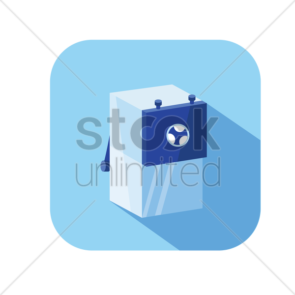 mechanical sharpener vector graphic