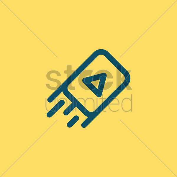 media player icon vector graphic