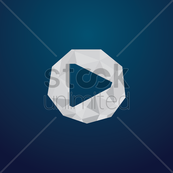 Free media player icon vector graphic