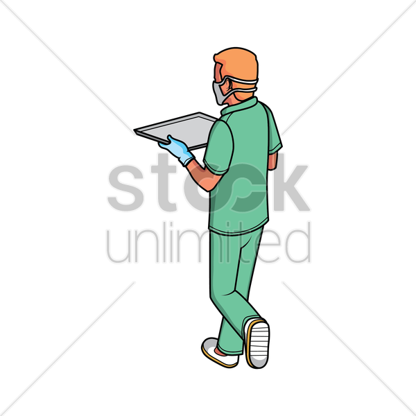 medical assistant vector graphic
