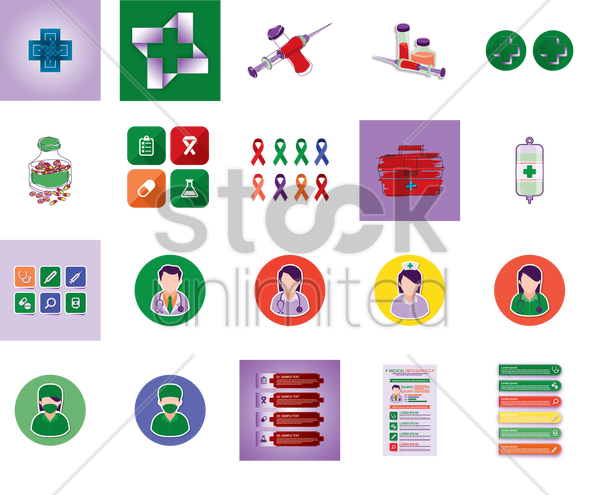 medical collection vector graphic