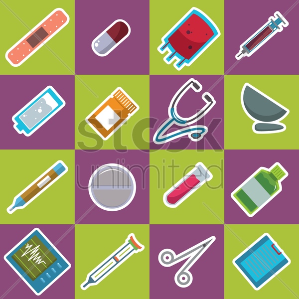 Free medical equipments vector graphic