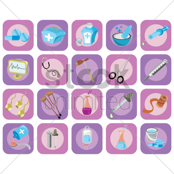 medical icon set vector graphic