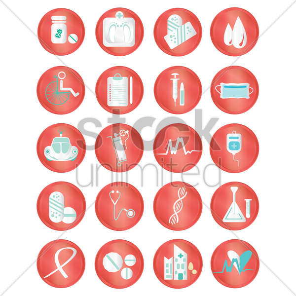 medical icons collection vector graphic
