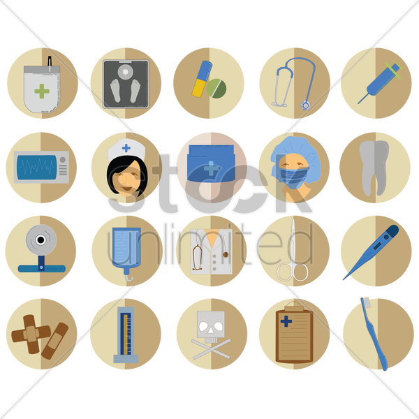 medical icons set vector graphic