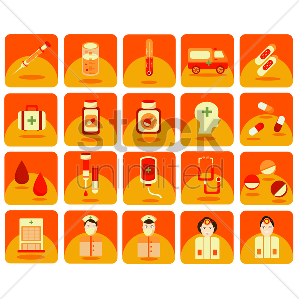 Free medical icons vector graphic