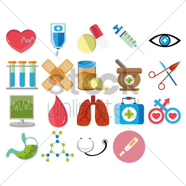 medical icons vector graphic