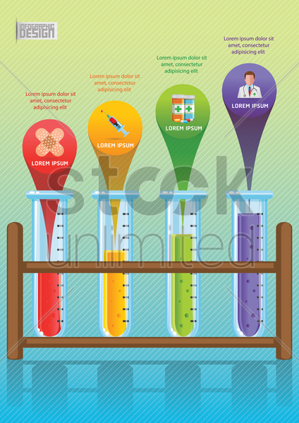 medical infographic vector graphic