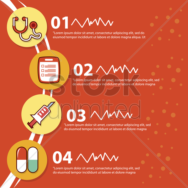 medical information template vector graphic