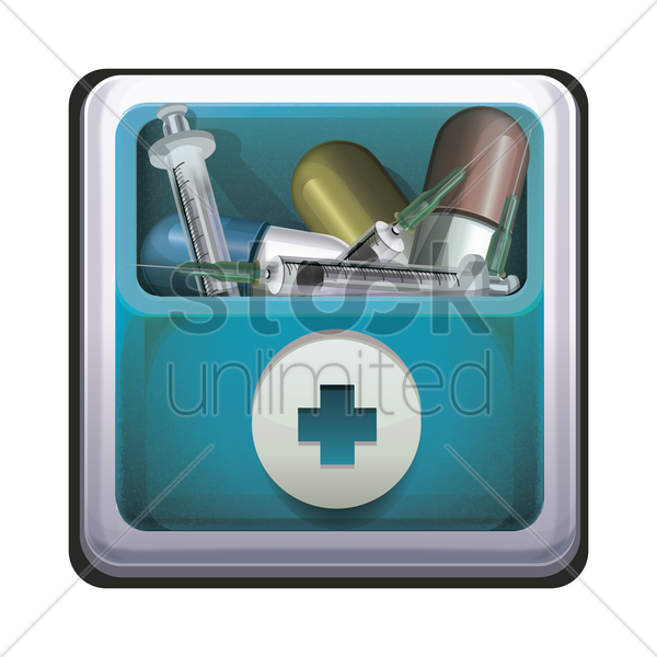 medical kit icon vector graphic