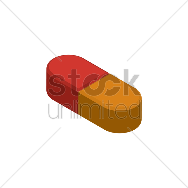 medical pill vector graphic