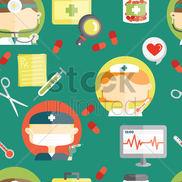 medical theme background vector graphic