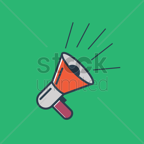 megaphone on green background vector graphic