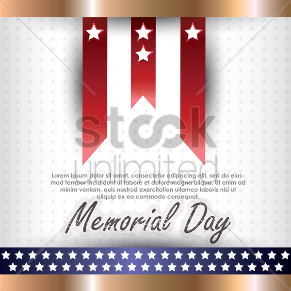 memorial day background with text vector graphic