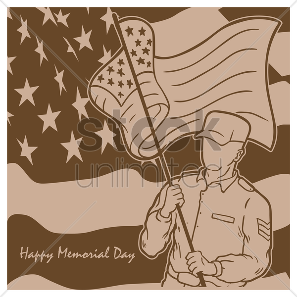Free memorial day background vector graphic