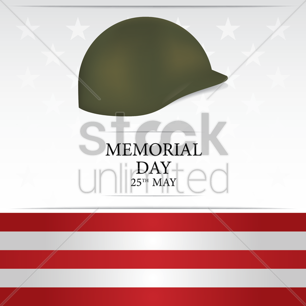 memorial day background vector graphic