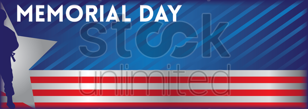 memorial day banner vector graphic