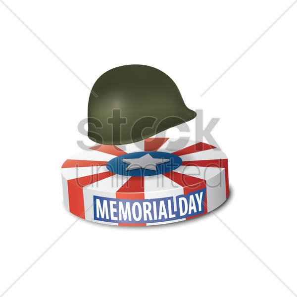 memorial day item vector graphic