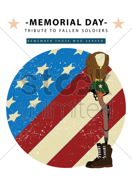 memorial day poster vector graphic