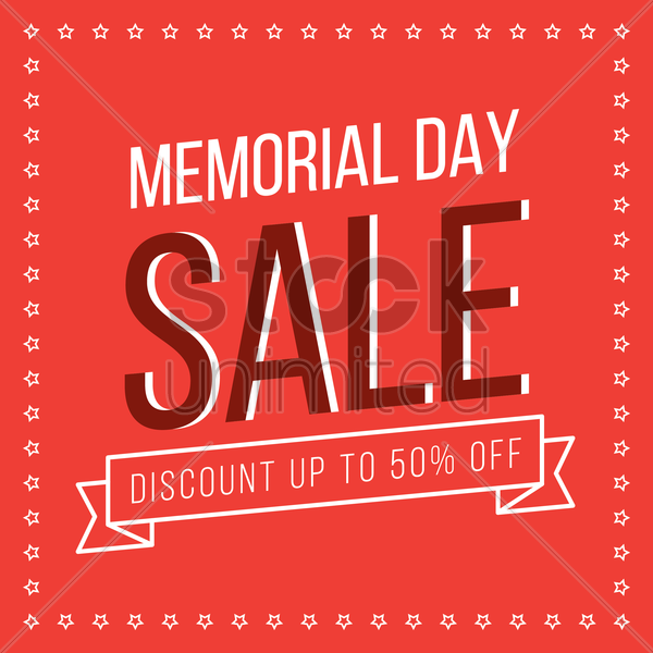 memorial day promotion vector graphic