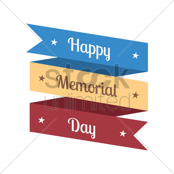 memorial day vector graphic