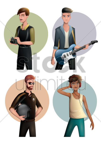 men and occupation vector graphic