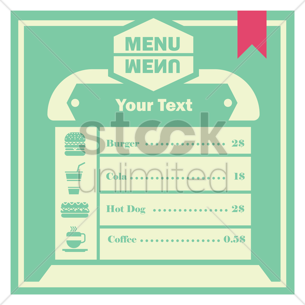 menu card design vector graphic