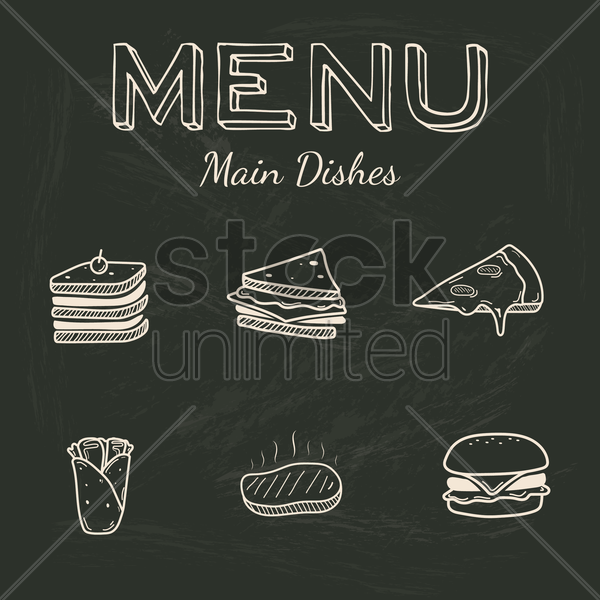 menu for main dishes vector graphic