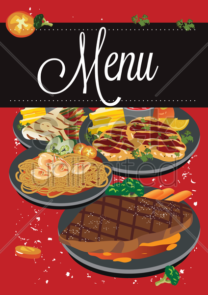 menu vector graphic