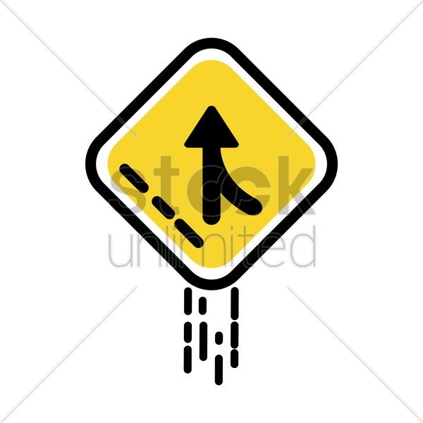 merge sign vector graphic