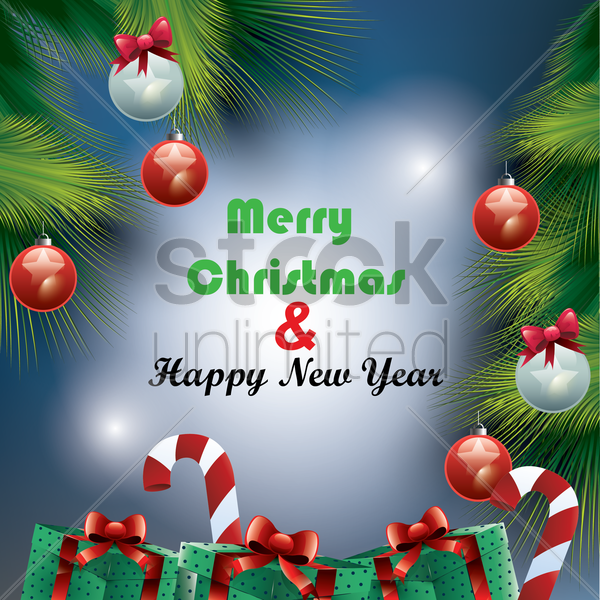 merry christmas background vector graphic