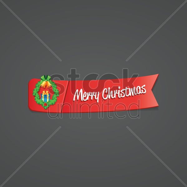 merry christmas banner vector graphic