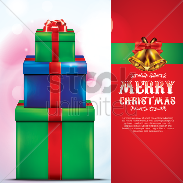 merry christmas card vector graphic
