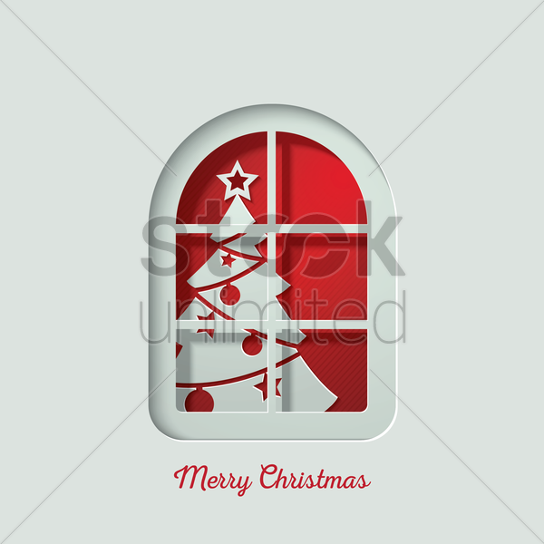 merry christmas greeting vector graphic