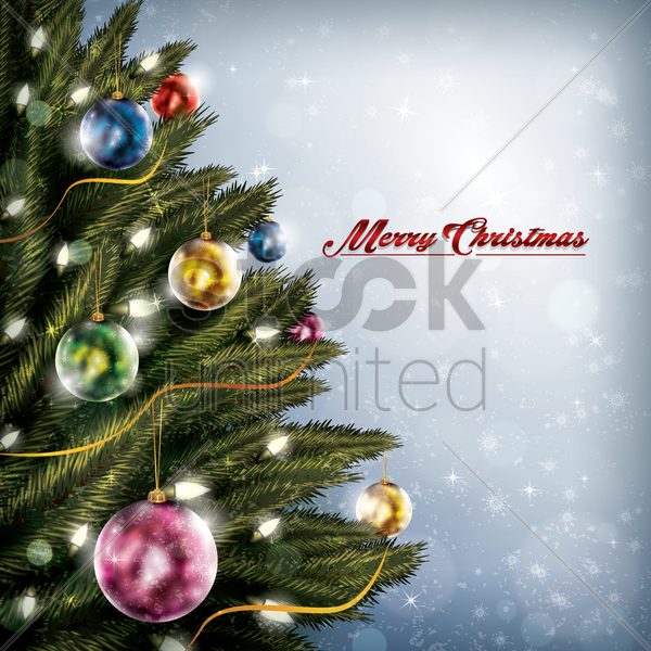 merry christmas greetings vector graphic
