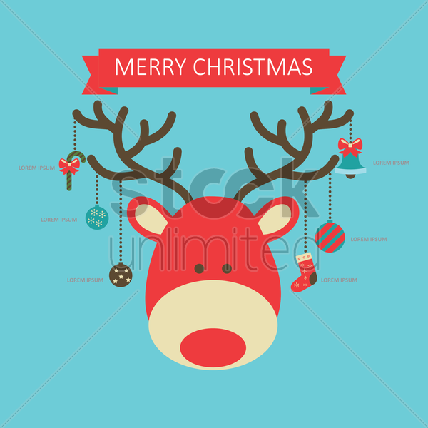 merry christmas infographic vector graphic