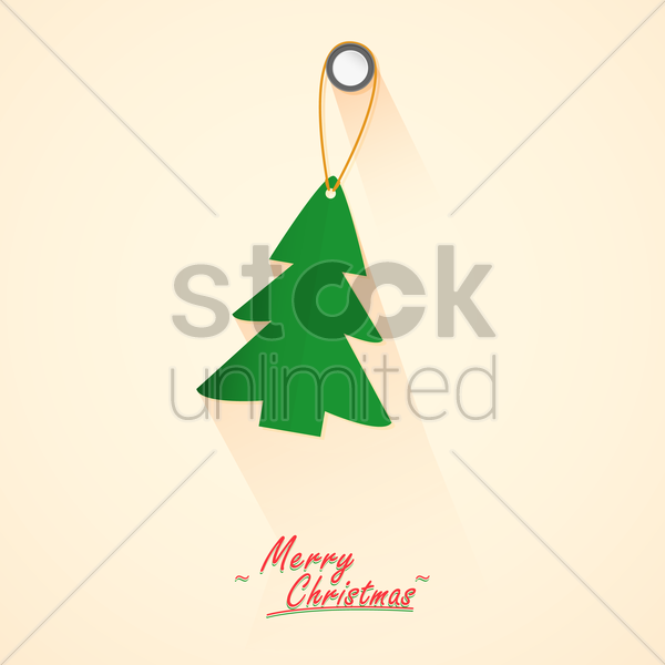 merry christmas message vector graphic