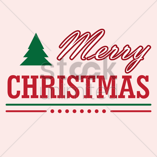 merry christmas vector graphic