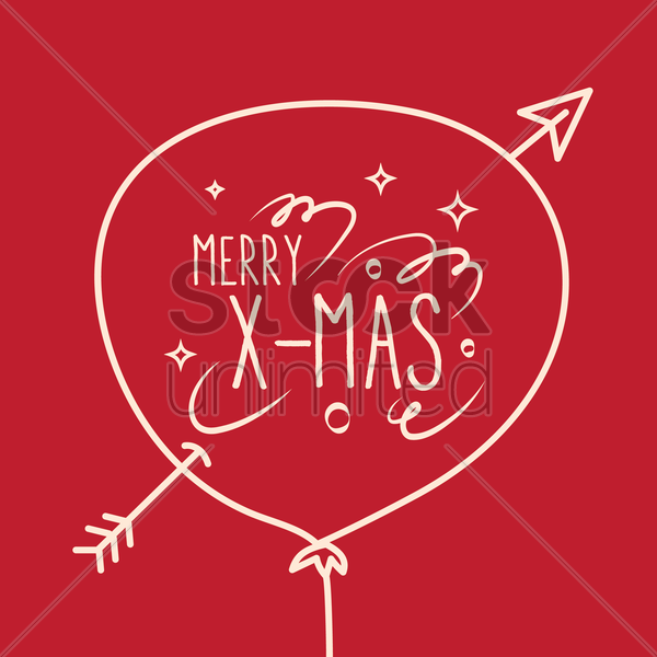 merry x-mas vector graphic