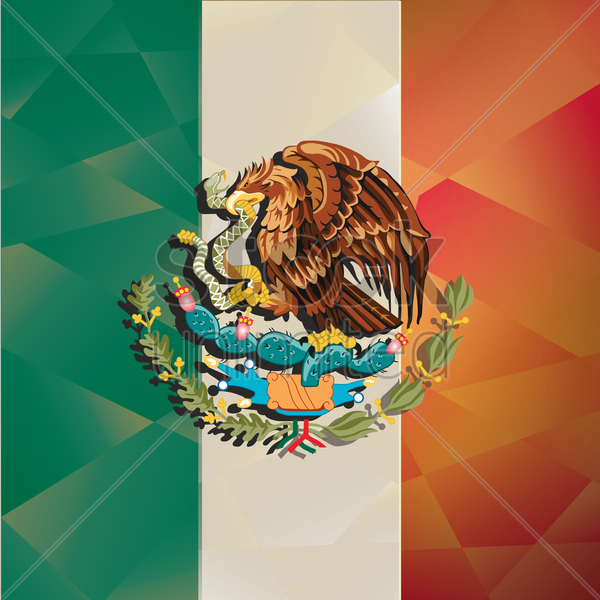 mexico flag background vector graphic