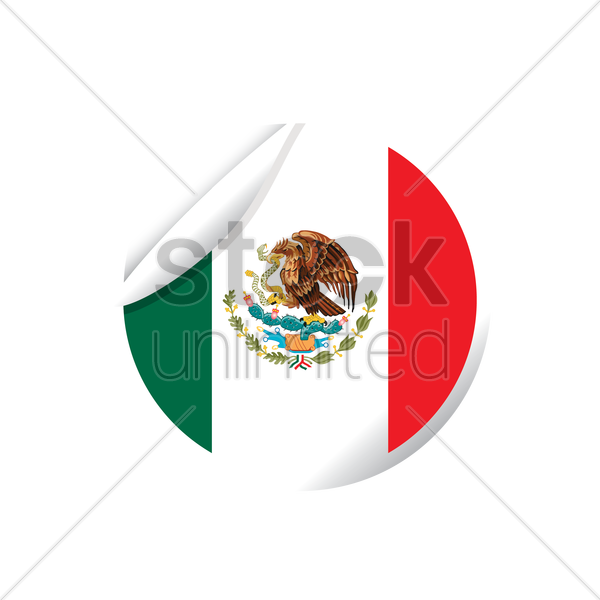 mexico flag icon vector graphic